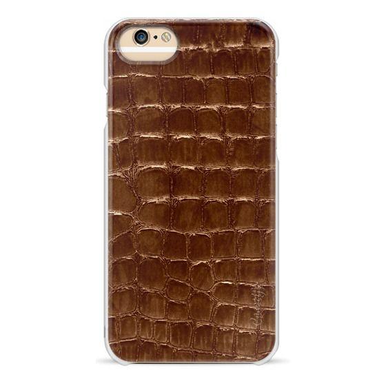 iPhone 6s Cases - marsala faux croco