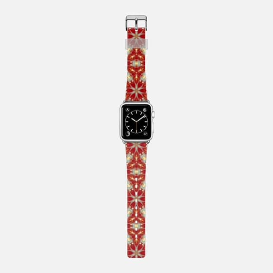jewel in red - Saffiano Leather Watch Band