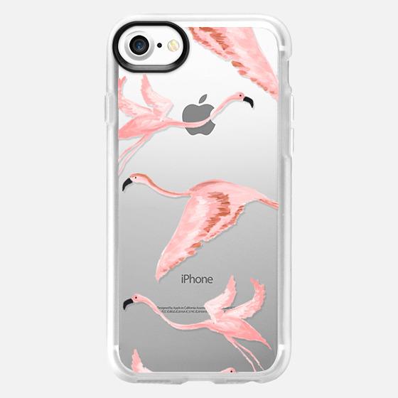Flying flamingos - Classic Grip Case