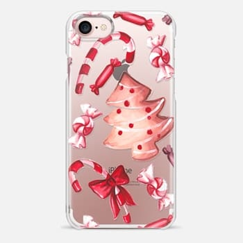 iphone 7 case gingerbread christmas tree