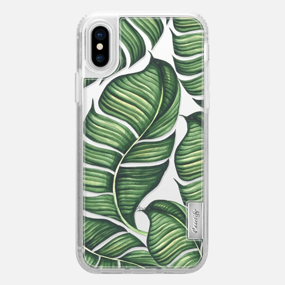 iPhone X 케이스 - Banana leaves