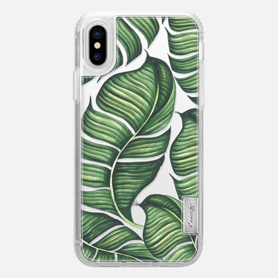 iPhone X 保护壳 - Banana leaves