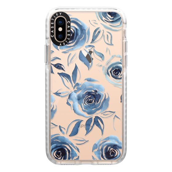 iPhone XS Cases - Blue roses