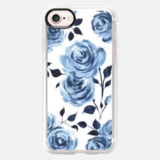 Porcelain Roses - white - Classic Grip Case