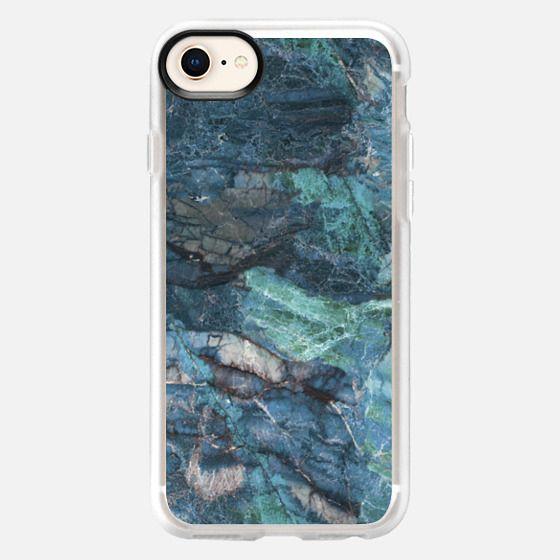 Turquoise marble stone case - Snap Case