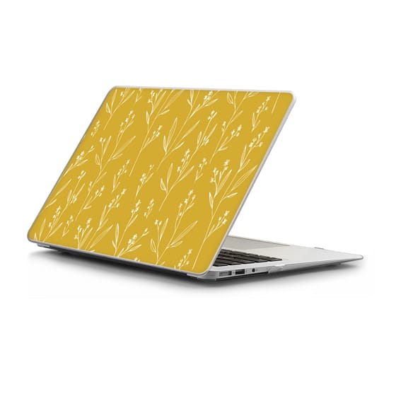MacBook Air 13 Sleeves - Mustard case with delicate floral design