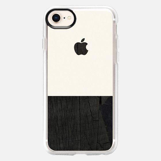 black wood and cream color block mens case - Snap Case