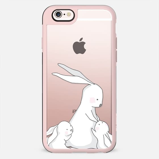 Bunny mom with two babies - New Standard Case