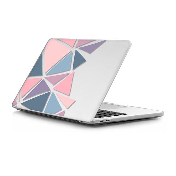 MacBook Pro Touchbar 13 Sleeves - Geometric modern in pink and purple