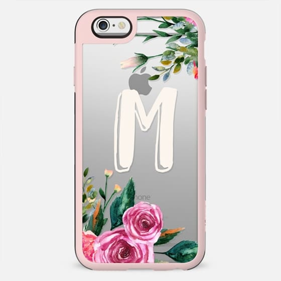 Letter M initial monogram clear case - New Standard Case