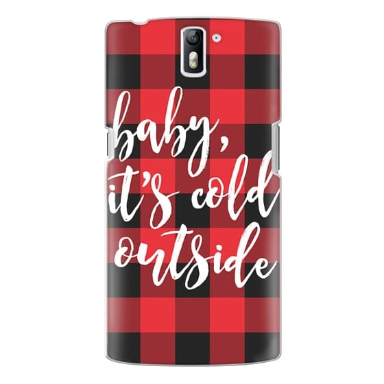 One Plus One Cases - Baby, It's Cold Outside + Red and Black Buffalo Plaid