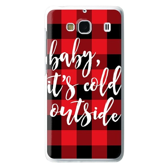 Redmi 2 Cases - Baby, It's Cold Outside + Red and Black Buffalo Plaid