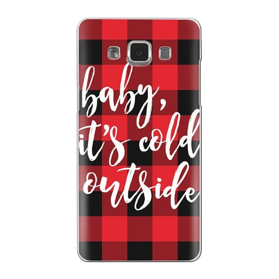 Samsung Galaxy A5 Cases - Baby, It's Cold Outside + Red and Black Buffalo Plaid