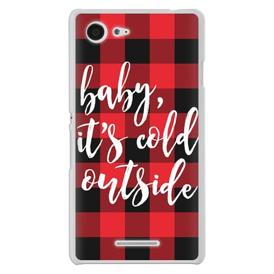 Sony E3 Cases - Baby, It's Cold Outside + Red and Black Buffalo Plaid