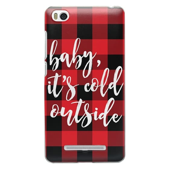 Xiaomi 4i Cases - Baby, It's Cold Outside + Red and Black Buffalo Plaid