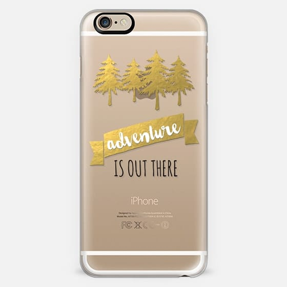 Adventure Is Out There + Gold Foil Banner and Trees -