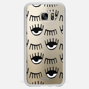 Samsung Galaxy S7 Edge ケース Evil Eyes N Lashes