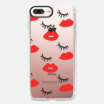 iPhone 7 Plus Case Eyes Lips Love