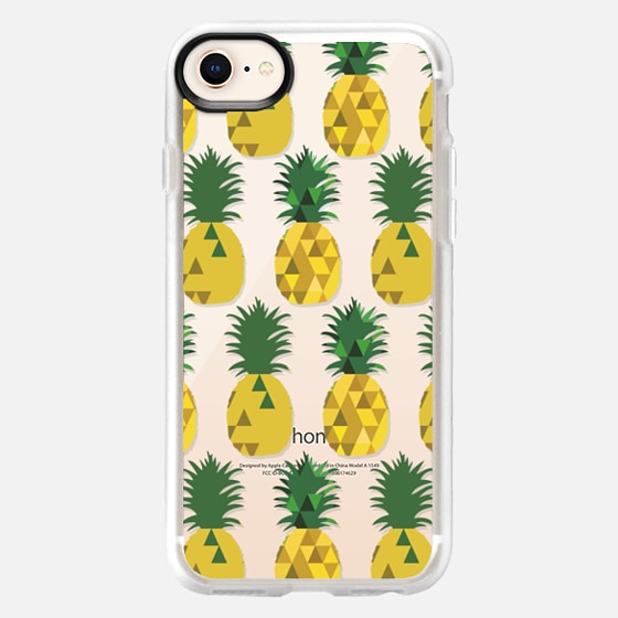 iPhone 8 Case - Transparent Pineapple Fruit Party