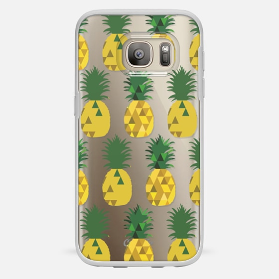 Galaxy S7 Case - Transparent Pineapple Fruit Party
