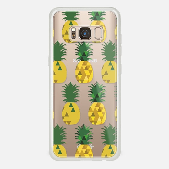 Galaxy S8 Case - Transparent Pineapple Fruit Party