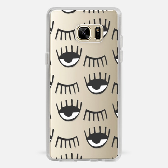 Galaxy Note 7 Hülle - Evil Eyes N Lashes