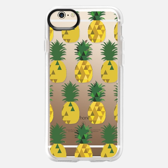 iPhone 6 Case - Transparent Pineapple Fruit Party