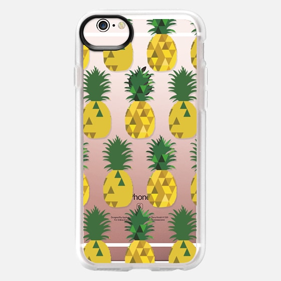 iPhone 6s Hülle - Transparent Pineapple Fruit Party