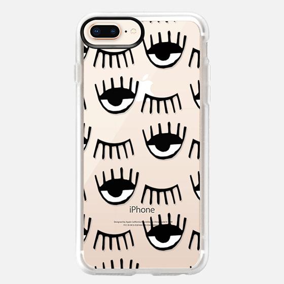 iPhone 8 Plus Hülle - Evil Eyes N Lashes