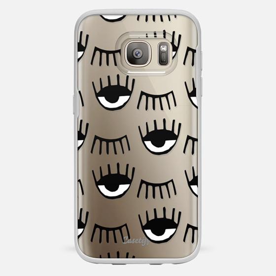 Galaxy S7 Coque - Evil Eyes N Lashes
