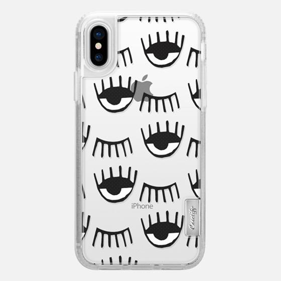 iPhone X Hülle - Evil Eyes N Lashes