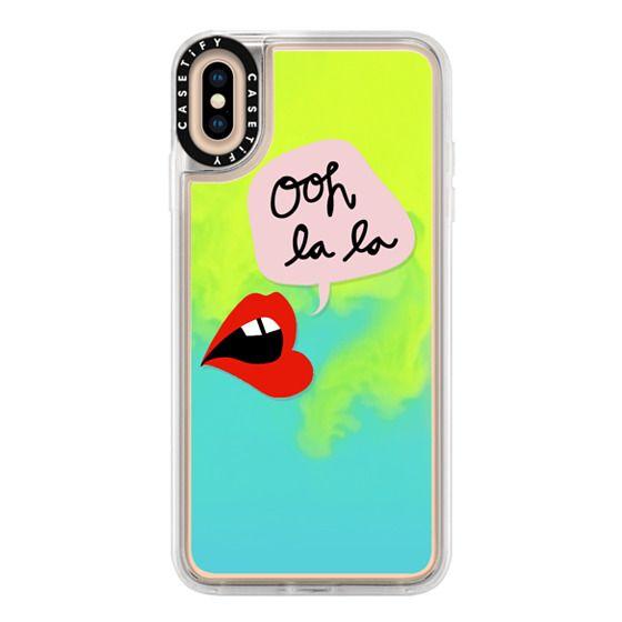 iPhone XS Max Cases - Oh La La Transparent Lips and Pink
