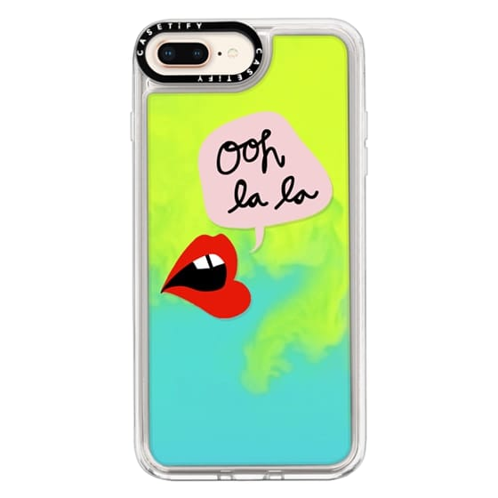 iPhone 8 Plus Cases - Oh La La Transparent Lips and Pink