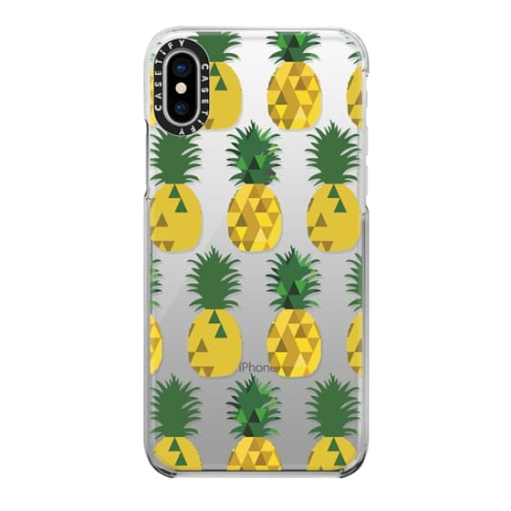 iPhone X Cases - Transparent Pineapple Fruit Party