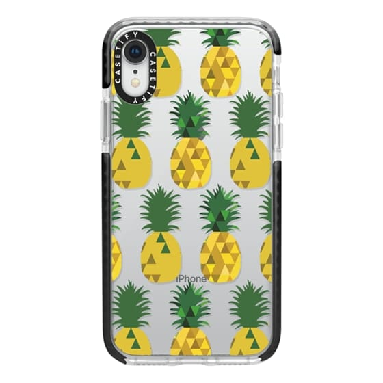 iPhone XR Cases - Transparent Pineapple Fruit Party