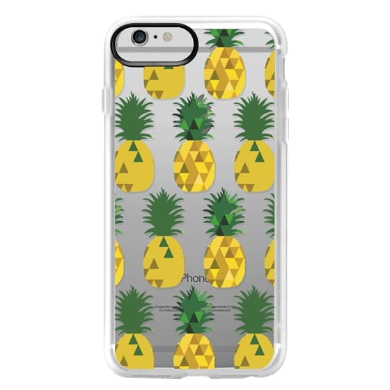 iPhone 6 Plus Cases - Transparent Pineapple Fruit Party