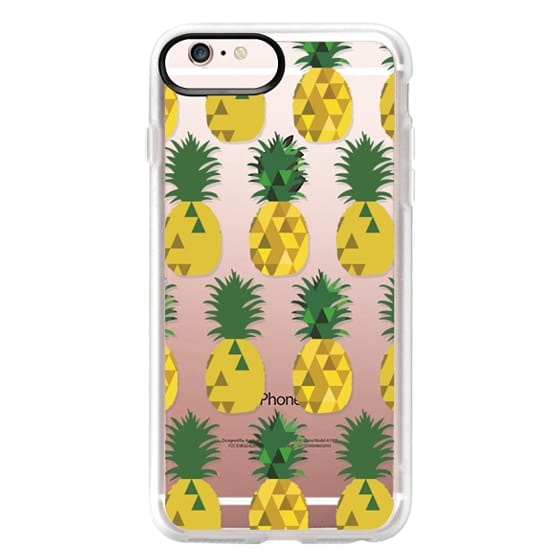 iPhone 6s Plus Cases - Transparent Pineapple Fruit Party