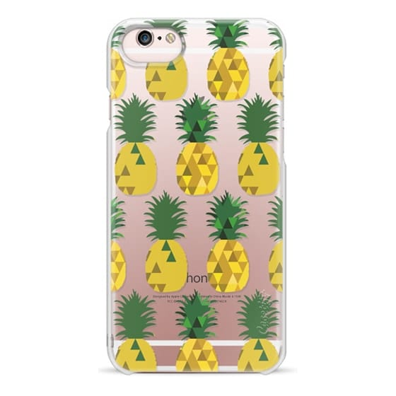 iPhone 6s Cases - Transparent Pineapple Fruit Party