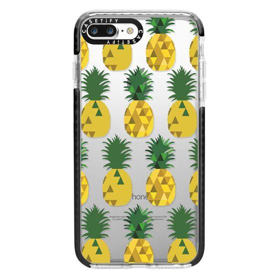 iPhone 7 Plus Cases - Transparent Pineapple Fruit Party