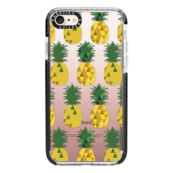 iPhone 7 Cases - Transparent Pineapple Fruit Party