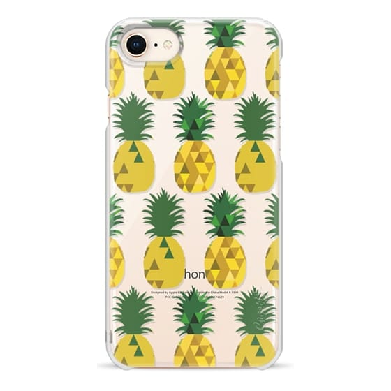 iPhone 8 Cases - Transparent Pineapple Fruit Party