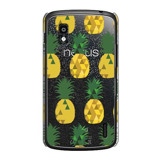 Nexus 4 Cases - Transparent Pineapple Fruit Party