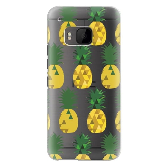 Htc One M9 Cases - Transparent Pineapple Fruit Party