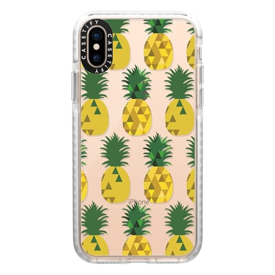 iPhone XS Cases - Transparent Pineapple Fruit Party