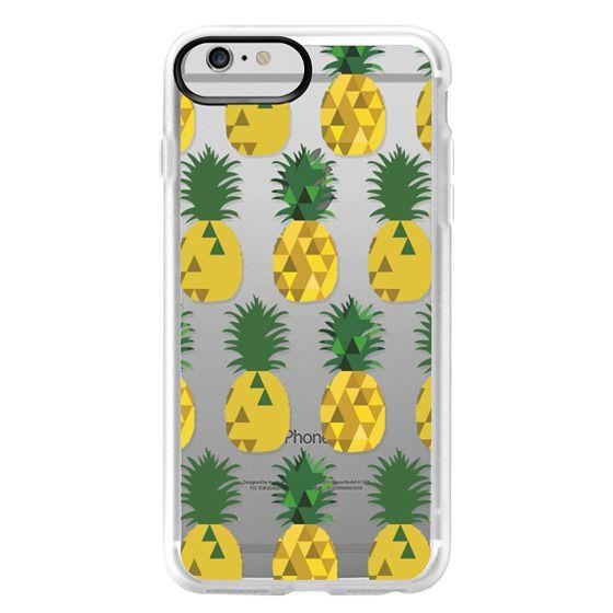 iPhone 6 Plus Cases - Transparent Pineapple Fruit Party