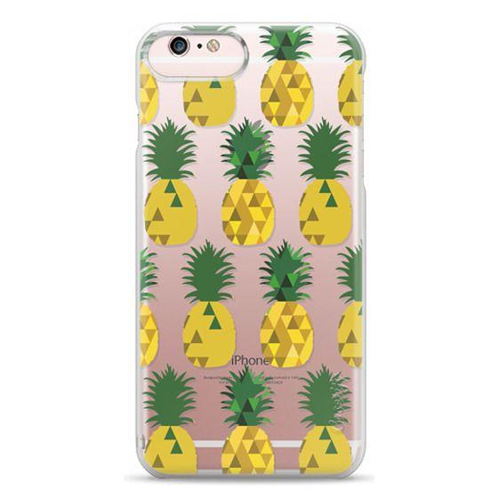 iPhone 6s Plus Cases - Transparent Pineapple Fruit Party