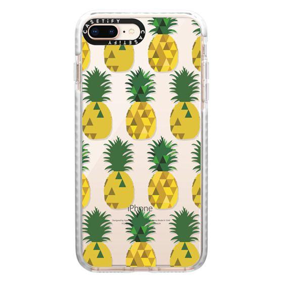 iPhone 8 Plus Cases - Transparent Pineapple Fruit Party