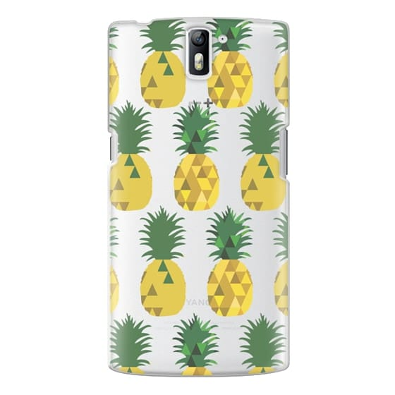 One Plus One Cases - Transparent Pineapple Fruit Party
