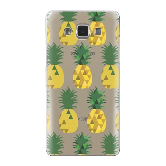 Samsung Galaxy A5 Cases - Transparent Pineapple Fruit Party