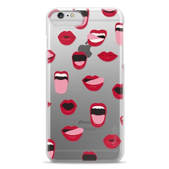 iPhone 6 Plus Cases - Valentines Sexy Lips and Kisses Transparent Loves Pink Miniature Version